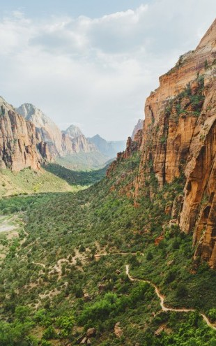 PHOTOWALL / Valley in Zion National Park, USA (e30845)