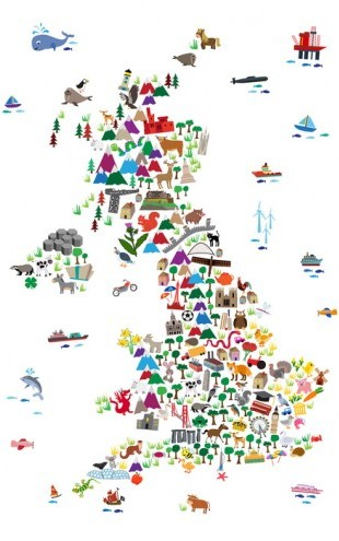 PHOTOWALL / Animal Map UK (e50179)