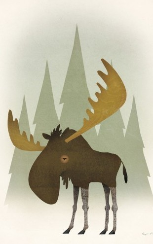 PHOTOWALL / Forest Moose (e50216)