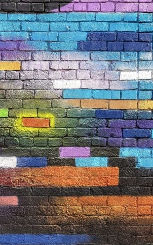 PHOTOWALL / Colorful Brick Wall (e310830)