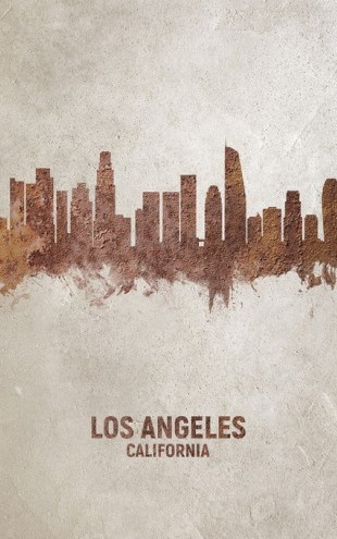 PHOTOWALL / Los Angeles California Rust Skyline (e312133)