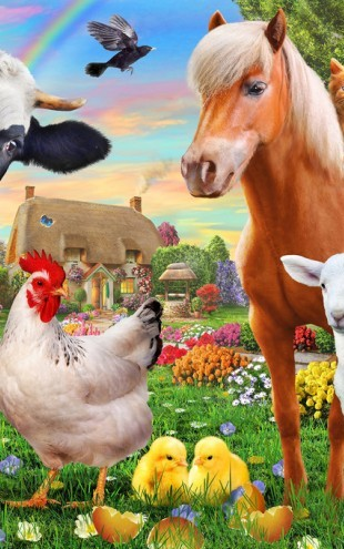 PHOTOWALL / Farm Animals for kids (e312326)