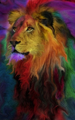 PHOTOWALL / Rainbow Lion (e312365)