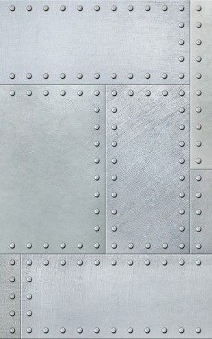 PHOTOWALL / Metal Plates with Rivets Seamless (e310815)