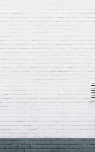 PHOTOWALL / White Brick Wall with Pipes (e313720)