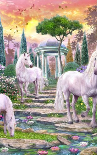 PHOTOWALL / Classical Garden Unicorns (e312561)