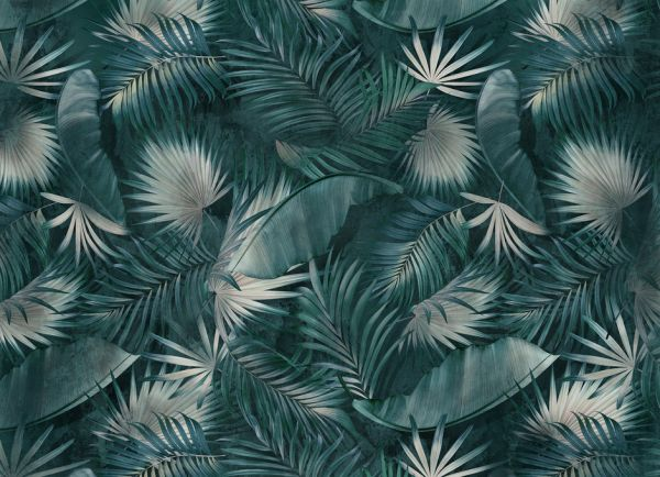 PHOTOWALL / Tropical Leaves - Green (e317154)