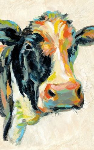 PHOTOWALL / Expressionistic Cow I (e313322)