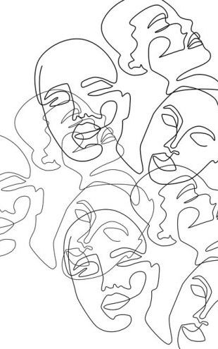 PHOTOWALL / Lined Face Sketches II (e316784)