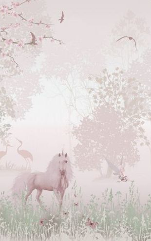PHOTOWALL / Unicorns in Dreamy Forest (e317684)
