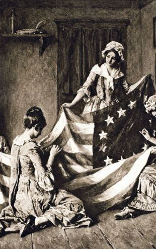 PHOTOWALL / Betsy Ross Sewing US Flag (e317375)