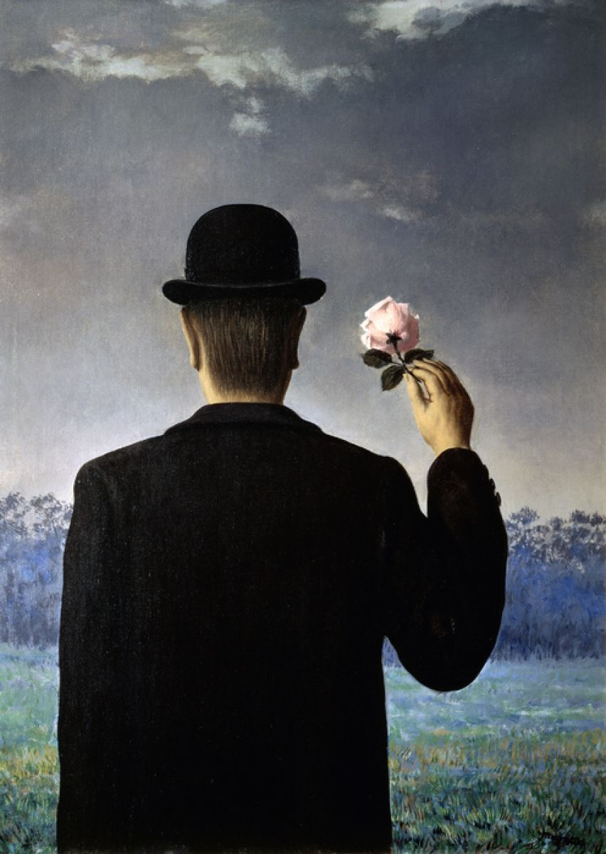Photowall Back Of A Man With A Rose Rene Magritte 輸入壁紙専門店 Walpa