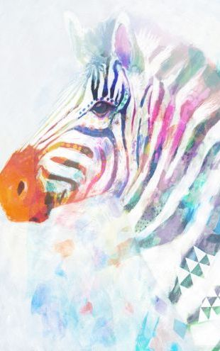 PHOTOWALL / Fluorescent Zebra (e320360)