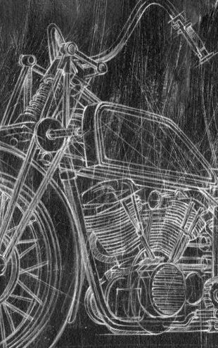 PHOTOWALL / Motorcycle Sketch (e320437)