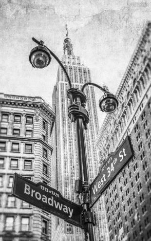 PHOTOWALL / New York Signs - BW (e321064)