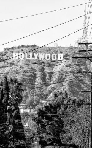 PHOTOWALL / Black California - Hollywood Sign (e328627)
