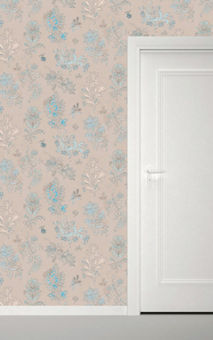 Quercus&Co. Paisley Blue Silk (The CARAVAN Collection)
