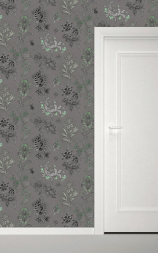 Quercus&Co. Paisley Dark Mint (The CARAVAN Collection)