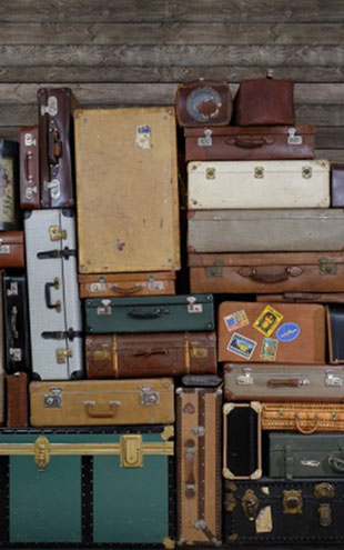 Rebel Walls #6 Passion / STACKED SUITCASES HEAP R14062