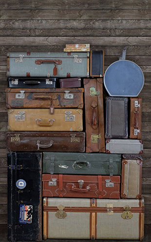 Rebel Walls #6 Passion / STACKED SUITCASES PILE R14063