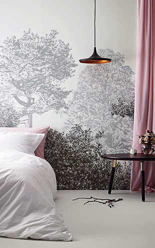 Sian Zeng / Hua Trees Mural Wallpaper / Grey 【3パネル1セット】