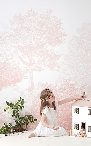 Sian Zeng / Hua Trees Mural Wallpaper / Pink 【3パネル1セット】