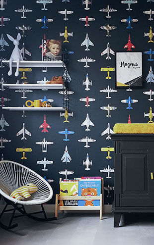 studio ditte / Airplanes wallpaper / Dark