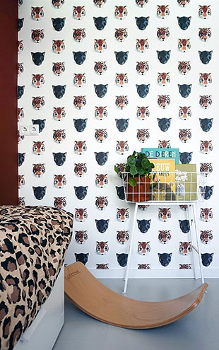 studio ditte / Panthera wallpaper / White【2パネル1セット】