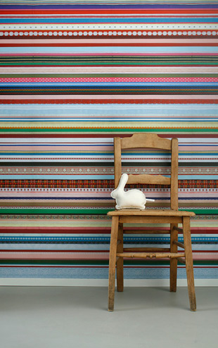 studio ditte / Ribbon wallpaper