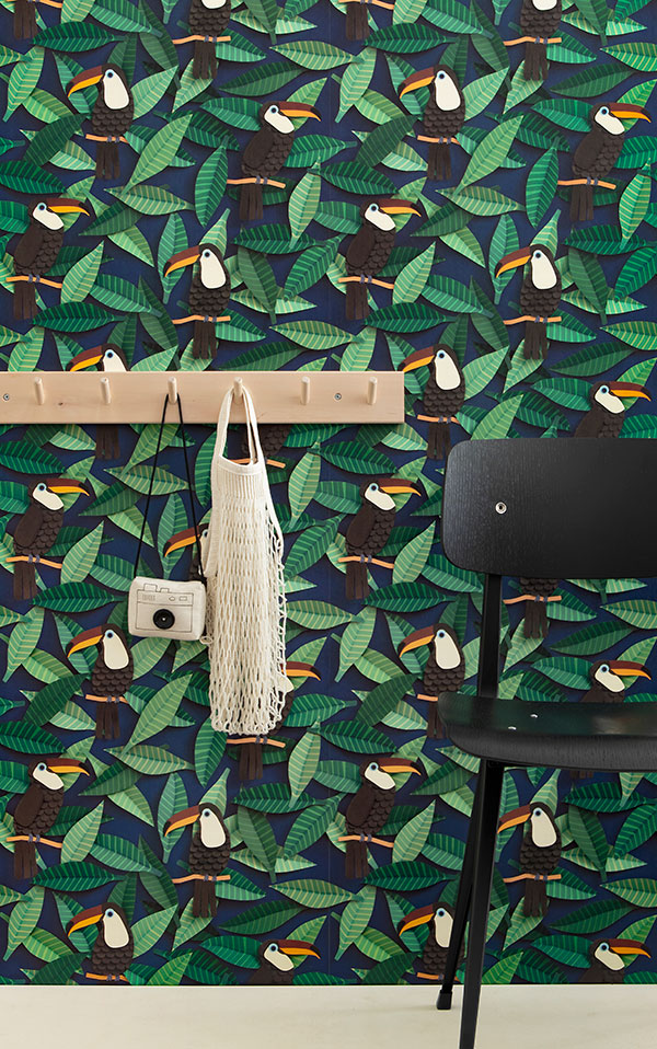 studio ditte / Toucan wallpaper【2パネル1セット】