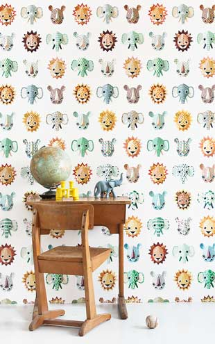 studio ditte / Wild Animals Wallpaper / cool