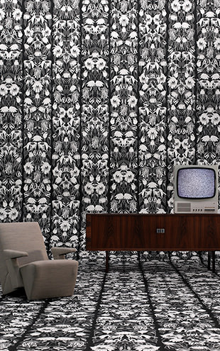 Archives Wallpaper by Studio Job / Withered Flowers/Black (JOB-06)