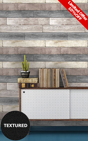 はがせる シール 壁紙 NU WALLPAPER / Reclaimed Wood Plank Natural / NU1690(NU3130)