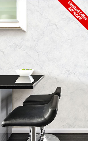 はがせる シール 壁紙 NU WALLPAPER / Carrara Marble Peel and Stick Wallpaper / NU2090