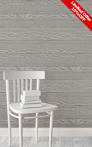 はがせる シール 壁紙 NU WALLPAPER / Grey Salvaged Wood Peel And Stick Wallpaper / NU2240