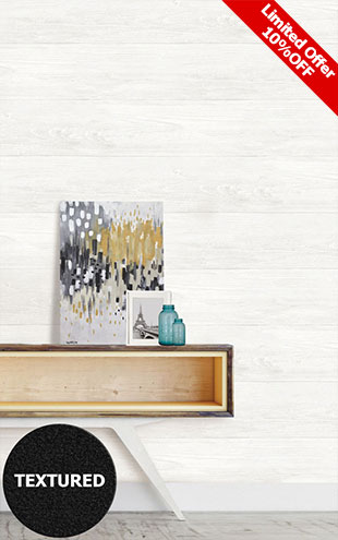 はがせる シール 壁紙 NU WALLPAPER / RECLAIMED SHIPLAP Peel And Stick Wallpaper / NU2494