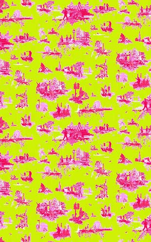 Timorous Beasties / London Toile Brights / TB/LTB/MICA/01