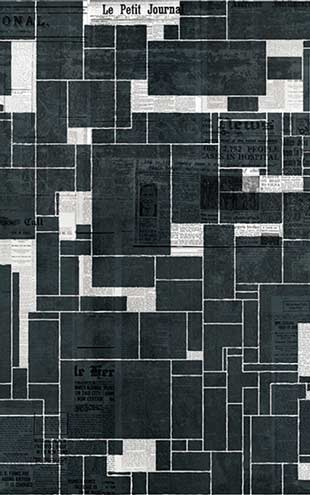 Wall&Deco / Contemporary Wallpaper 2016 Gio Pagani BLACK BRICKS WDBB1601 B