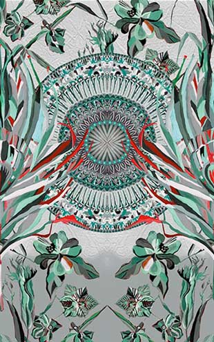 Wall&Deco / Contemporary Wallpaper 2016 Maria Gomez Gonzales DARLINGTONIA WDDA1601