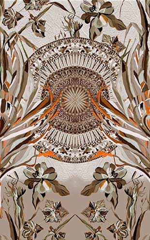 Wall&Deco / Contemporary Wallpaper 2016 Maria Gomez Gonzales DARLINGTONIA WDDA1602