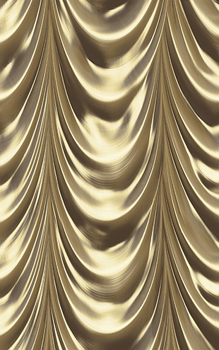 WALLQUEST 3D Golden Curtain TD30306 (UTOPIA5)