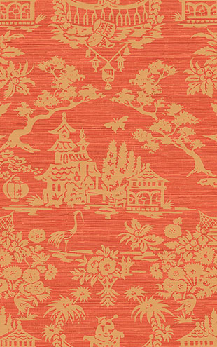 WALLQUEST / CHINOISERIE Scenic Damask CH70301