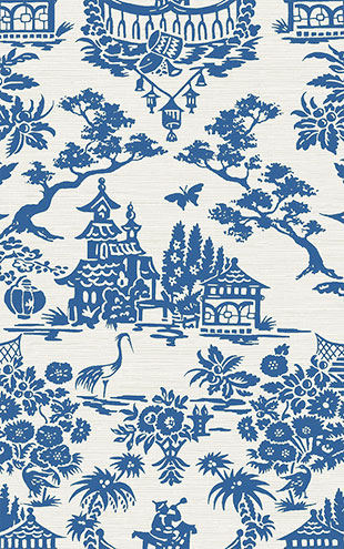 WALLQUEST / CHINOISERIE Scenic Damask CH70302