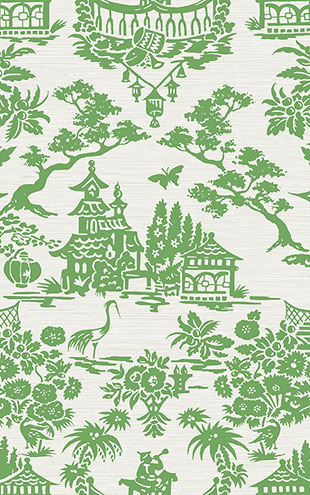 WALLQUEST / CHINOISERIE Scenic Damask CH70304
