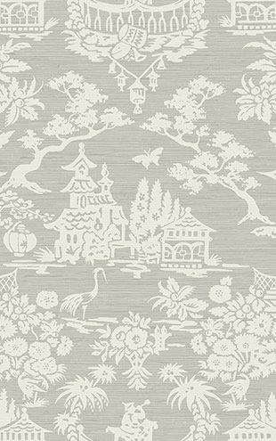 WALLQUEST / CHINOISERIE Scenic Damask CH70306