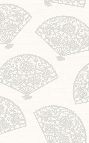 WALLQUEST / CHINOISERIE Lace Fans CH70900