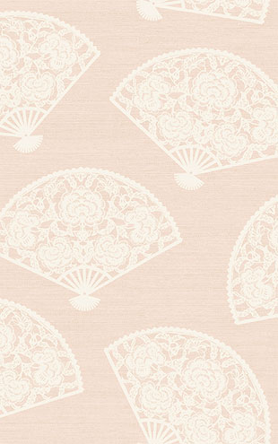 WALLQUEST / CHINOISERIE Lace Fans CH70901