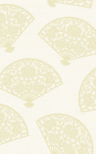 WALLQUEST / CHINOISERIE Lace Fans CH70910