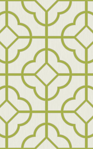 WALLQUEST / CHINOISERIE Quatrefoil Lattice CH71204