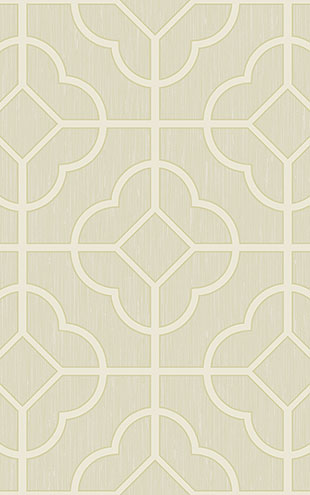 WALLQUEST / CHINOISERIE Quatrefoil Lattice CH71207